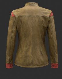 Rey Shirt Leather Jacket For Woman