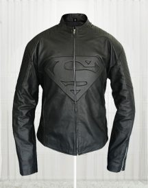 Smallville Superman Men's Black Leather Jackets