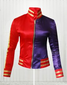 Suicide Squad Harley Quinn Margot Robbie Red & Blue Jacket For Women's