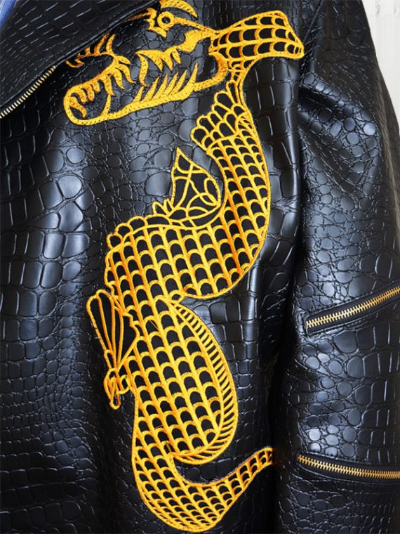 Suicide Squad Killer Croc Dragon Leather Jacket