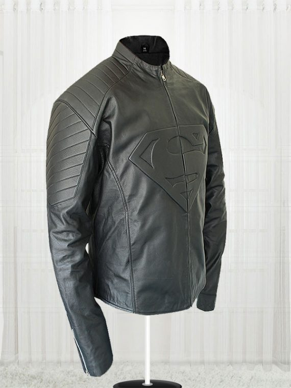 Superman Smallville Men's Black Leather Jacket