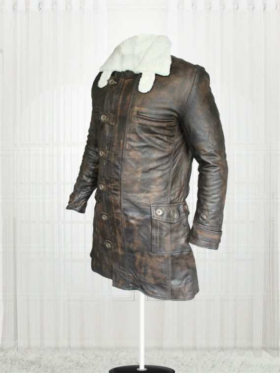 The Dark Knight Rises Tom Hardy Bane leather Coat