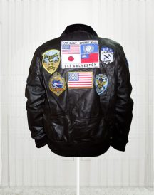 Tom Cruise Top Gun Movie Black Jacket