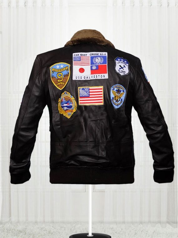 Tom Cruise Top Gun Movie Black Jackets