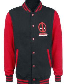 Varsity Style Deadpool Black Jacket