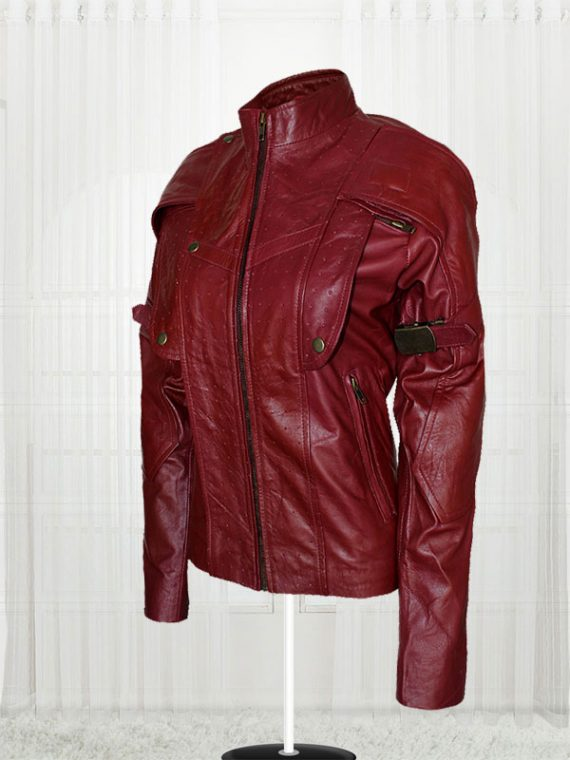 Women Guardians of the Galaxy Star Lord Leather Jacket