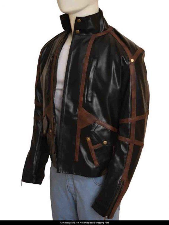 Black Leather Jacket Sebastian Stan Bucky Barnes
