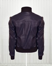Rose Taylor Blue Bomber Leather Jackets