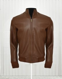 Ryan Reynolds Brown Colored Leather Jacket