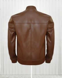 Ryan Reynolds Brown Colored Leather Jackets