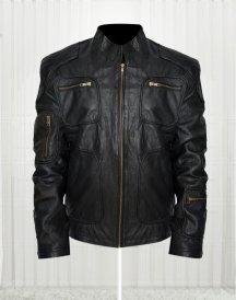 Star Trek Into Darkness Chris Pine Black Leather Jacket
