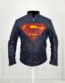 Superman - Man of Steel Midnight Blue Leather Jacket