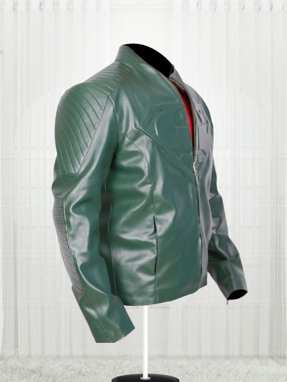 Supperman Green Leather Jackets