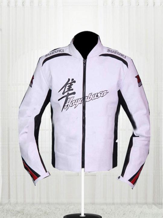 Suzuki Hayabusa White Leather Jacket