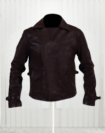 Swanky Brown Leather Jacket Worn By Captain America 2