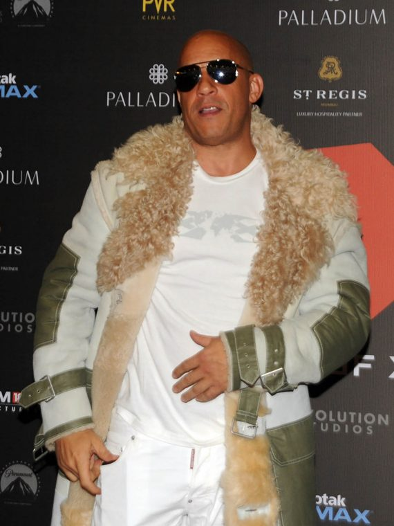 Vin Diesel xXx Movie Mumbai Premiere Fur Coat