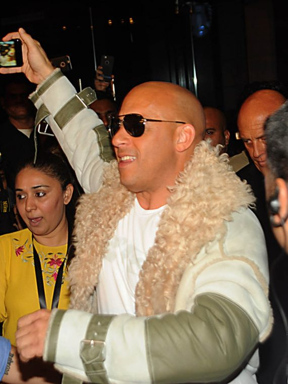 Vin Diesel xXx Movie Mumbai Premiere Fur Coats