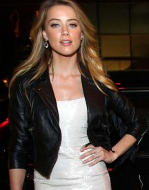 Amber Heard Black Jackets