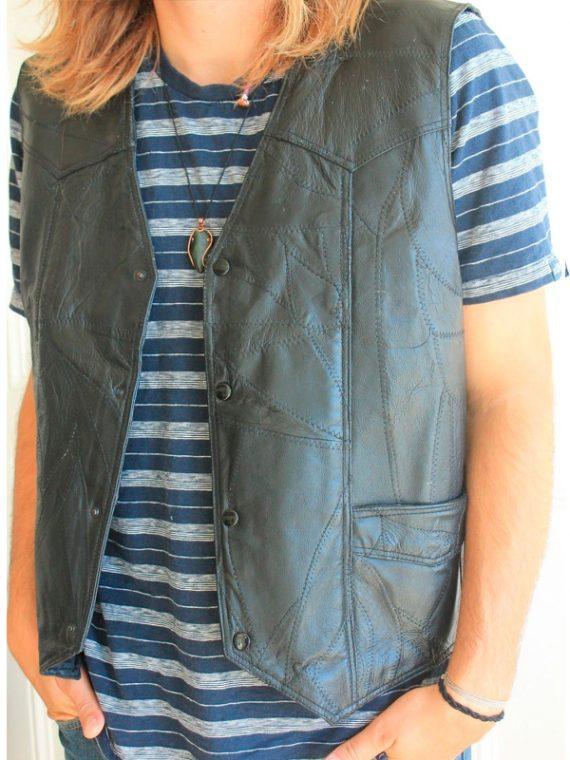 American Flag Leather Vest