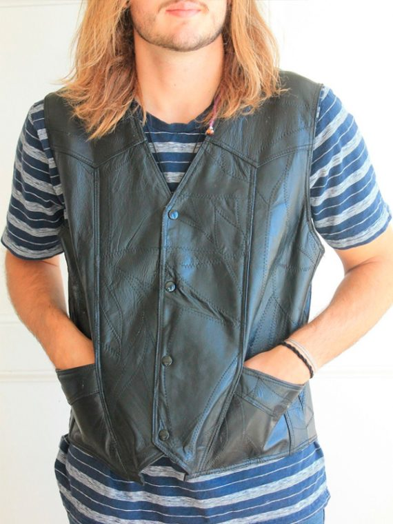 American Flag Leather Vests