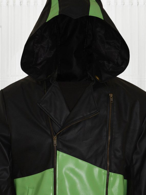 Assassin's Creed 3 Movie Connor Kenway Black and Green Hoodie