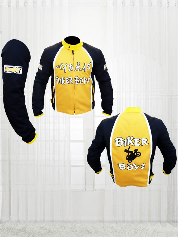 Biker Boyz 2003 Derek Luke Kid Yellow Motorcycle Jacket