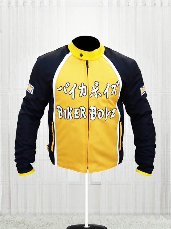 Biker Boyz 2003 Derek Luke Yellow Motorcycle Jacket