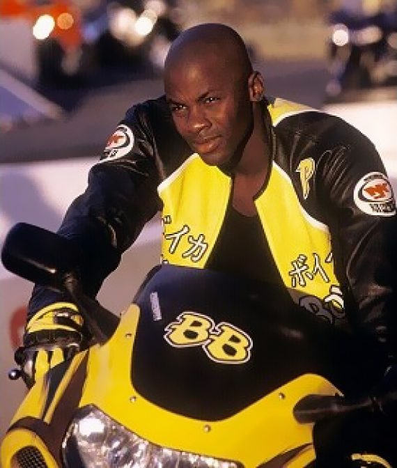 Biker Boyz 2003 Derek Luke Yellow Motorcycle Jackets