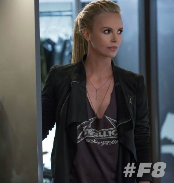 Charlize Theron Fast 8 Movie Leather Jacket