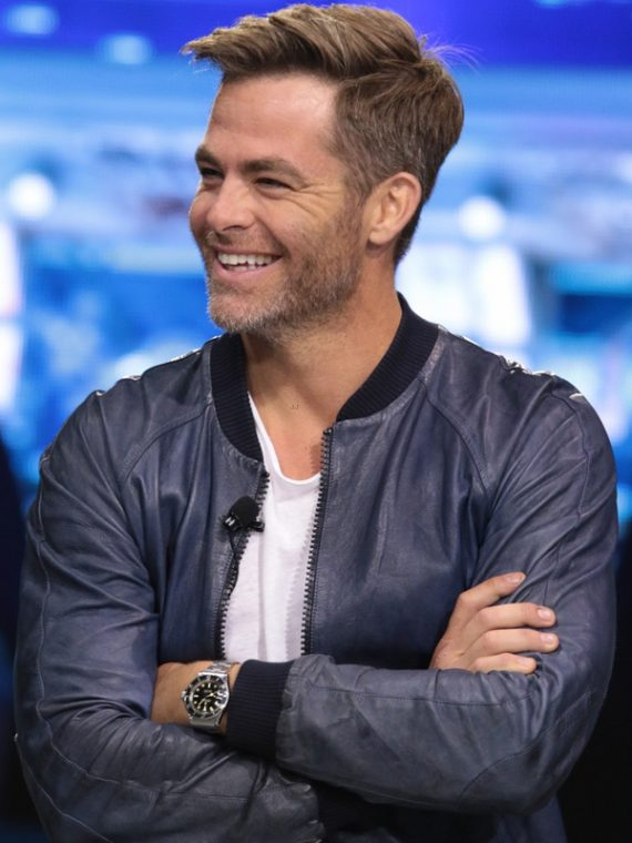 a0aac9ae7 Chris Pine Star Trek Beyond Blue Jacket