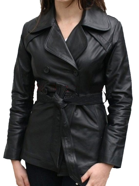 Classic Women Leather Coat