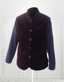 Custom Made Dark Brown Suede Vest