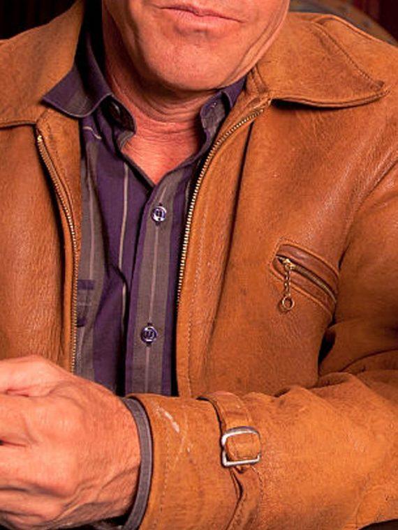 Dennis Quaid Vegas TV Series Sheriff Ralph Lamb Brown Jacket