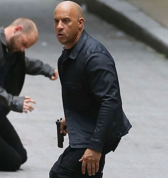 Fast 8 Dominic Toretto Vin Diesel Black Jacket