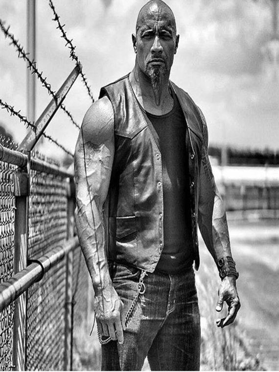 Fast 8 Dwayne Johnson 2017 Leather Vest