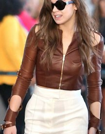 Hailee Steinfeld Brown Leather Jacket