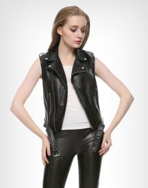 Ladies Motorcycle Leather Vest