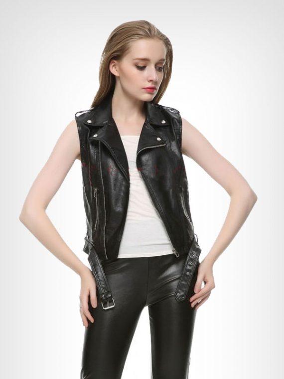 Ladies Motorcycle Leather Vest