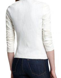 New Stylish Women White Leather Jackets
