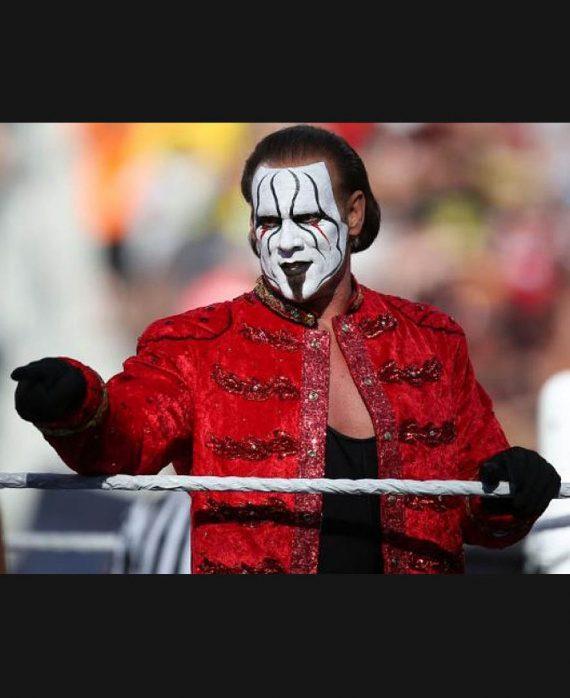 Sting WWE Superstar Steve Borden Red Long Coat