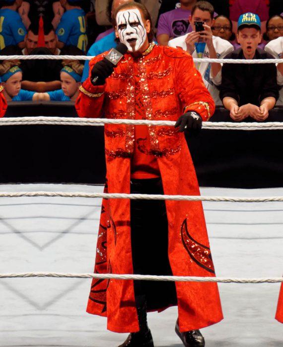 WWE Superstar Sting Steve Borden Red Long Coats