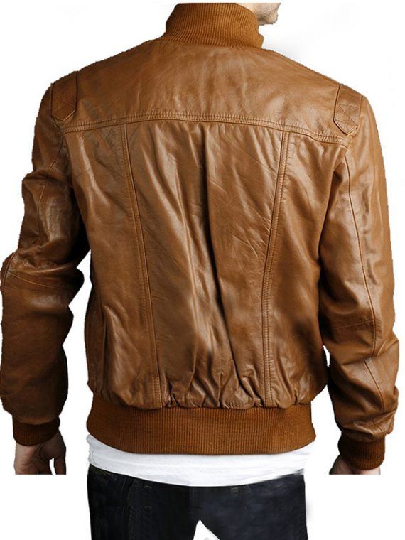 4 Pockets Slim Fit Bomber Leather Jackets