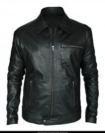 Aaron Paul Need For Speed Black Leather Jacket