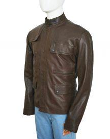 Ajax Brown Leather Jacket