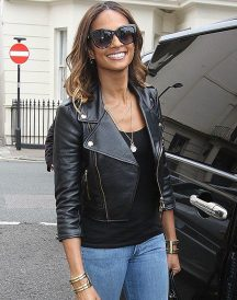 Alesha Dixon Black Leather Jacket