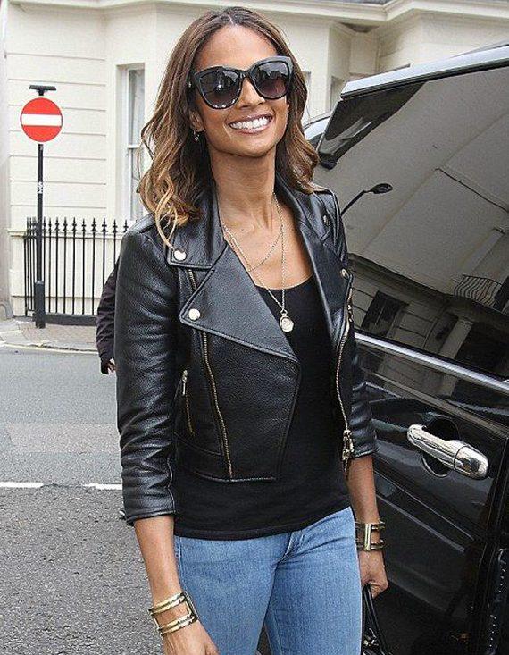 Alesha Dixon Black Leather Jacket