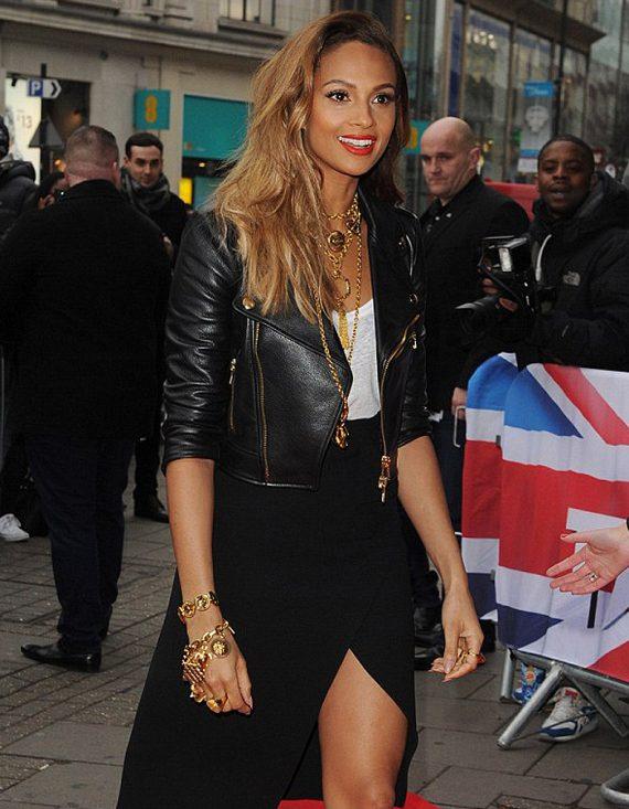 Alesha Dixon Rapper Leather Jacket