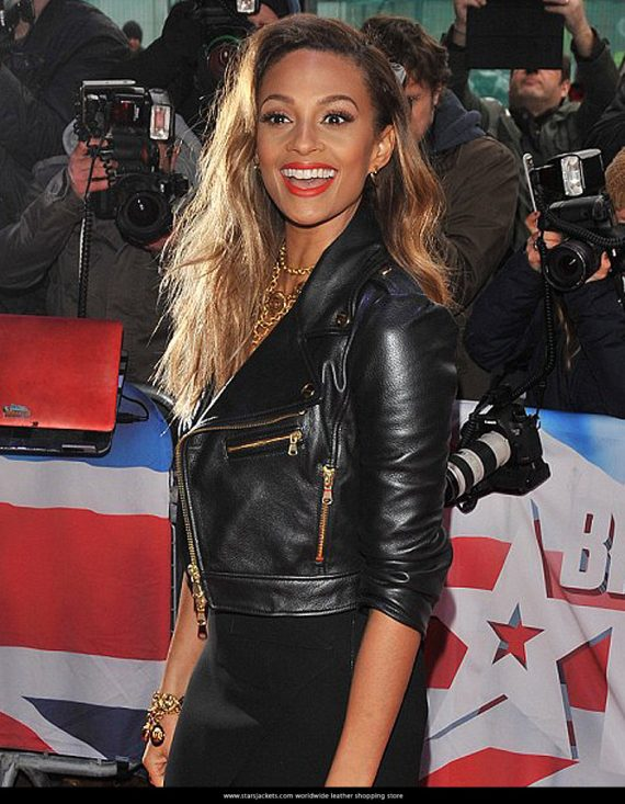 Alesha Dixon TV Presenter Leather Jacket