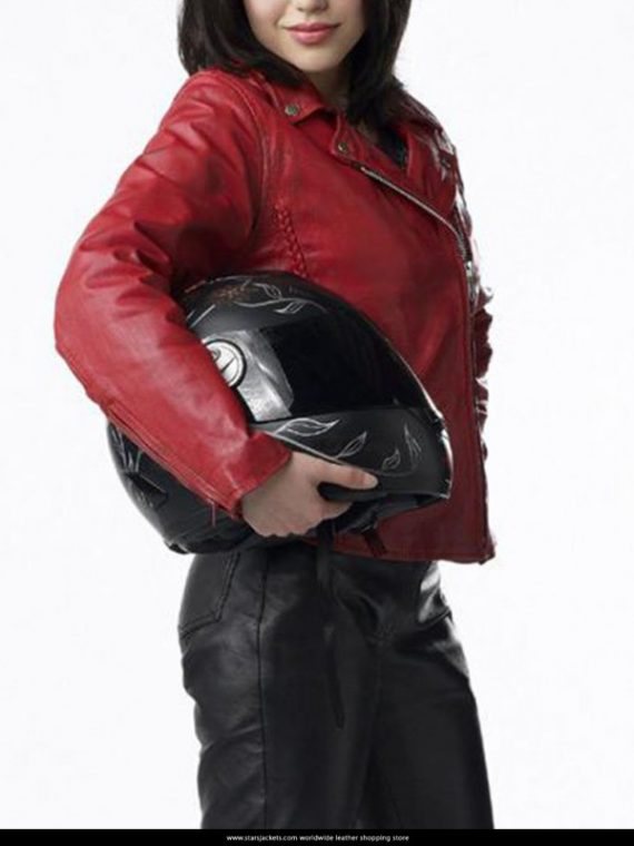 Alyssa Diaz Ben 10 Alien Swarm Elena Validus Leather Jackets