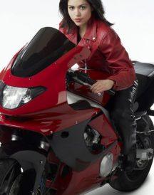 Alyssa Diaz Ben 10 Alien Swarm Elena Validus Leather Red Jackets